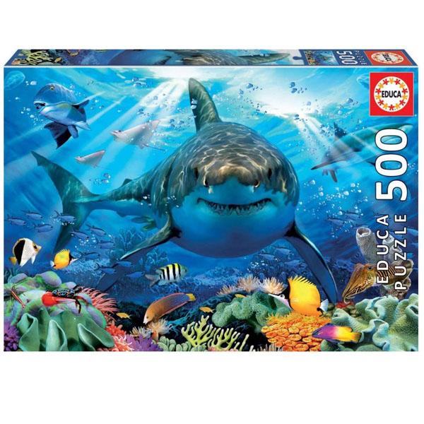Фото - Educa 18478 Пазл 500 деталей Большая белая акула пазлы educa пазл мое секретное место 500 деталей