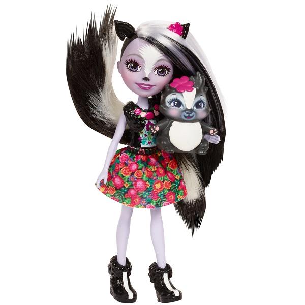 Mattel Enchantimals DYC75 Кукла Седж Скунси, 15 см mattel mattel кукла ever after high мишель мермейд