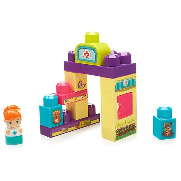 Mattel Mega Bloks DYC55 Мега Блокс Игровой набор Ветеринарный центр
