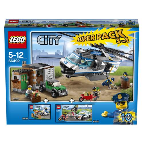 Lego Superpack 66492 Конструктор Лего Суперпэк Полиция 3 в 1