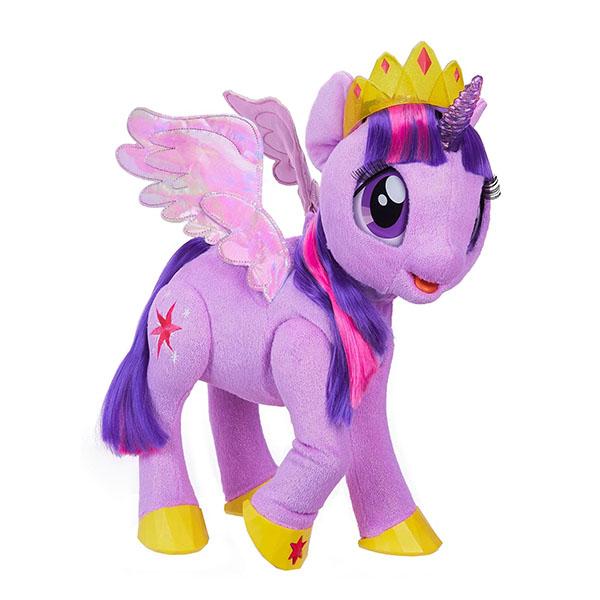 Hasbro My Little Pony C0299 Май Литл Пони Сияние интерактивная Твайлайт Спаркл мульти пульти мягкая игрушка принцесса луна 18 см со звуком my little pony мульти пульти