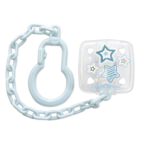 Canpol babies 250930534 Клипса-держатель для пустышек для новорожденных, 0+ Newborn baby, (голубой)