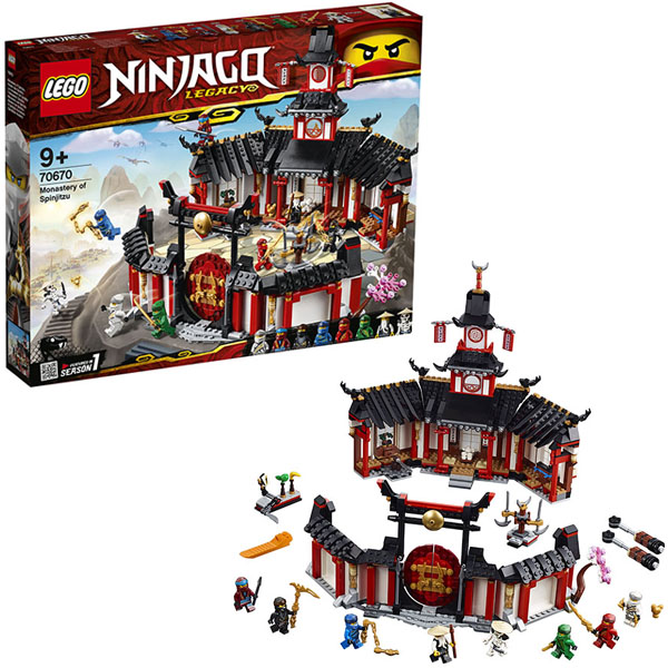 Lego Ninjago 70670 Конструктор Лего Ниндзяго Монастырь Кружитцу конструктор lego ninjago 70589 горный внедорожник