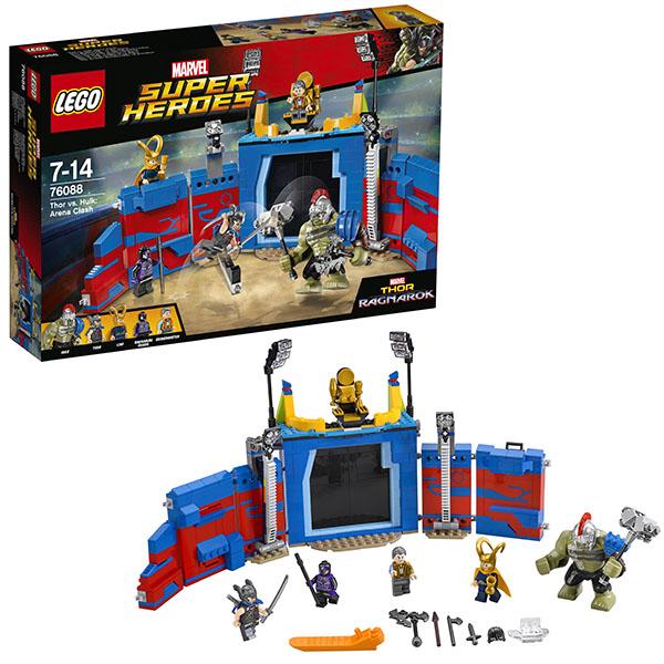 Lego Super Heroes 76088 Конструктор Лего Супер Герои Тор против Халка: Бой на арене конструкторы lego lego игрушка супер герои битва супергероев модель 76044 super heroes