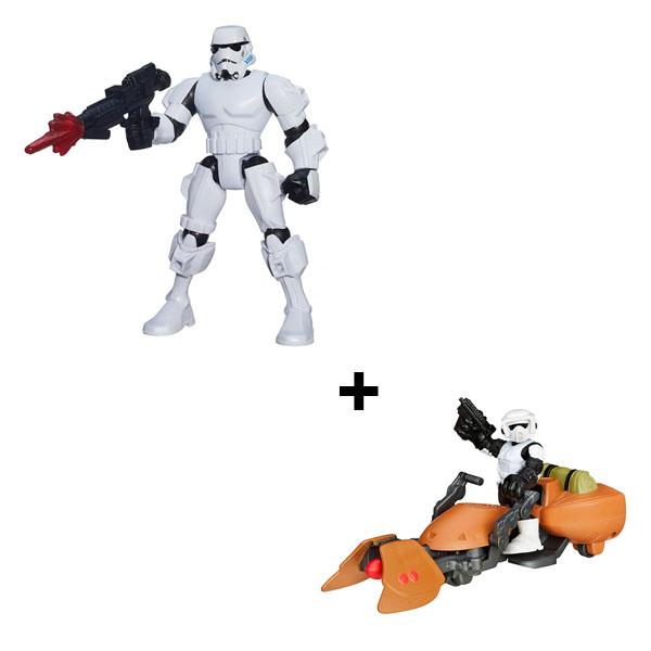 Hasbro Star Wars B3656N Звездные Войны Фигурка + фигурка делюкс и транспортное средство как удостоверение на право управления транспортным средством с категории