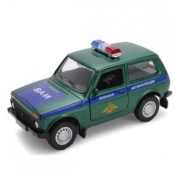 Welly 42386MC Велли Модель машины 1:34-39 LADA 4x4 ВОЕННАЯ АВТОИНСПЕЦИЯ. welly 43657ti модель машины 1 34 39 lada granta такси