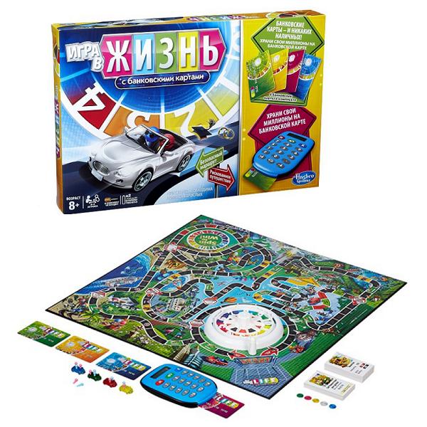 Hasbro Other Games A6769 Игра в жизнь с банковскими картами hasbro other games a4626 настольная игра табу