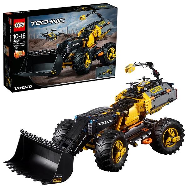 Lego Technic 42081 Конструктор Лего Техник VOLVO колёсный погрузчик ZEUX погрузчик с вращением с магнитом блист brio