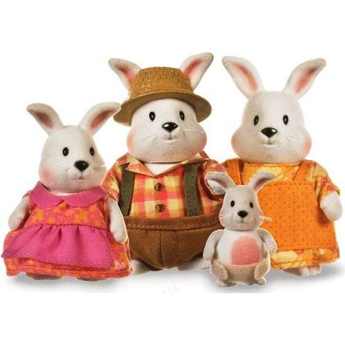 Li'l Woodzeez 6006Q Лил Вудзиз Семейка Кроликов (4 шт) в наборе с книжкой