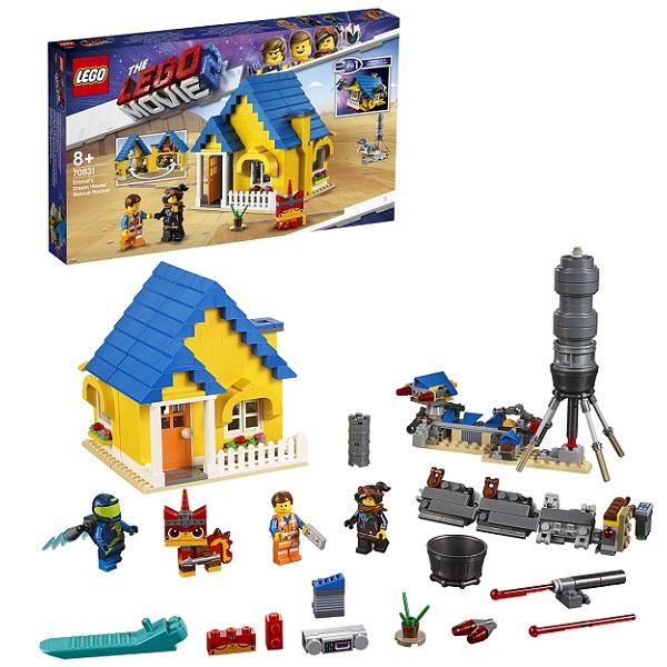 Lego Movie 2 70831 Конструктор Лего Фильм 2 Дом мечты: Спасательная ракета Эммета! лестницу в дом на чердак