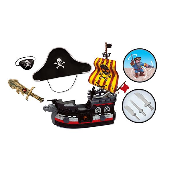 """Boley 31690 Подарочный игровой набор """"Пиратский корабль"""" с комплектом одежды пирата"""