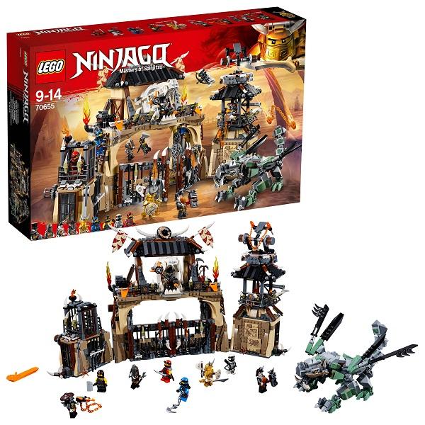 цены на LEGO Ninjago 70655 Конструктор ЛЕГО Ниндзяго Пещера Драконов  в интернет-магазинах