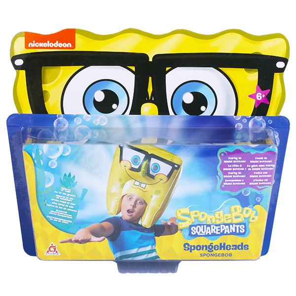 SpongeBob EU690605 Шляпа надувная в виде персонажа (Спанч Боб улыбается)