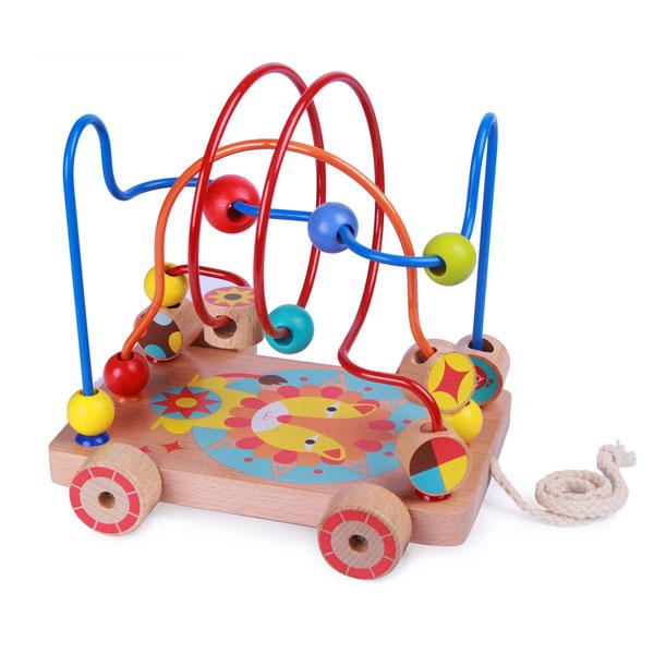 Lucy&Leo LL160 Лабиринт-каталка Лев деревянные игрушки lucy leo каталка лабиринт корова