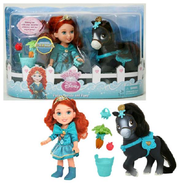 цены на Disney Princess 755060 Принцессы Дисней Малышка с конем 15 см (в ассортименте)  в интернет-магазинах