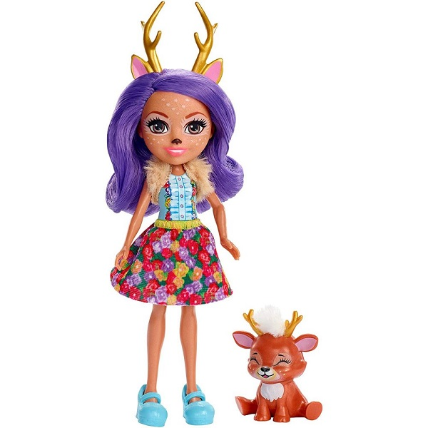 Mattel Enchantimals FXM75 Кукла с питомцем Данесса Оления