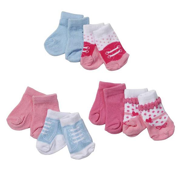 Zapf Creation Baby born 819-517 Бэби Борн Носки 2 пары, 3 (в ассортименте) zapf creation сандали фантазийные розовые baby born