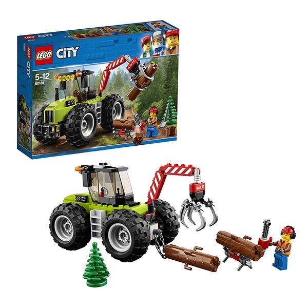 Lego City 60181 Конструктор Лего Город Лесной трактор lego city 60110 лего город пожарная часть