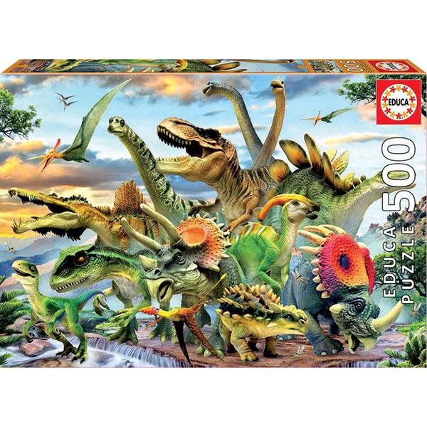 """Educa 17961 Пазл 500 деталей """"Динозавры"""""""