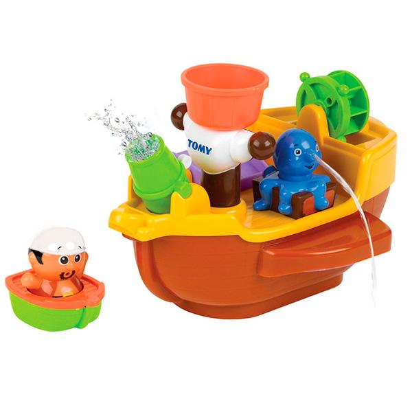TOMY BathToys T71602 Томи Игрушки для ванны Пиратский корабль для ванной игрушки для детей