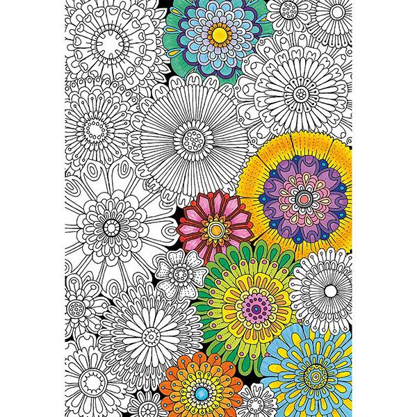 Educa 17090 Пазл-раскраска 300 деталей Цветы пазлы educa пазл 1500 деталей закат в мауи