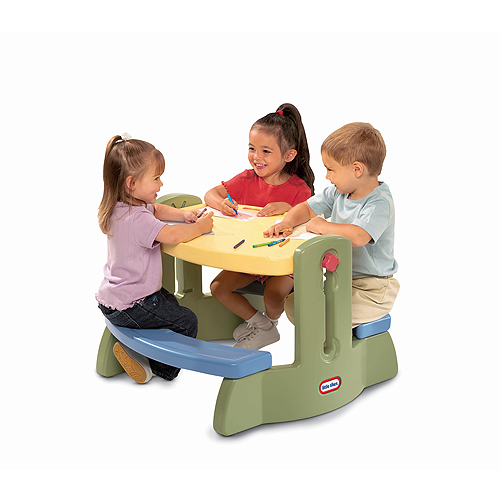 Little Tikes 613890 Литл Тайкс Столик со скамейками и регулируемой высотой