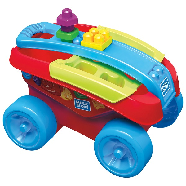 Mattel Mega Bloks FVJ47 Мега Блокс Тележка-сортер для сбора деталей игрушка раскачивающаяся гусеница mega bloks