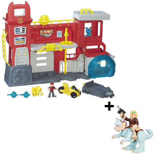 Hasbro Playskool Heroes B5210N Трансформеры Спасатели: Штаб спасателей + фигурка Звездных войн игровой набор playskool heroes автомобиль 4x4 и фигурка раптора b0535