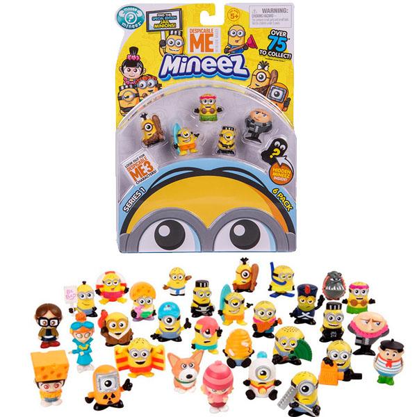 Moose Minions 58203 Миньоны Набор 6 фигурок Гадкий Я-3 mymei 1 комплект 12шт набор гадкий я 2 миньоны рисунок игрушки в розницу 96408