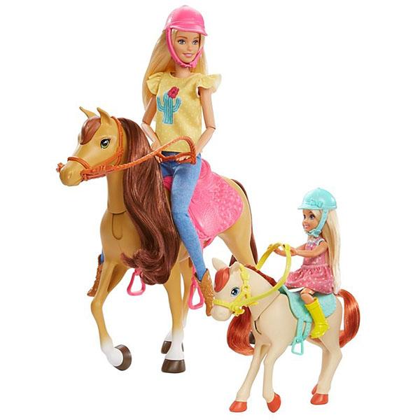 Mattel Barbie FXH15 Барби Кукла Челси и любимые лошадки