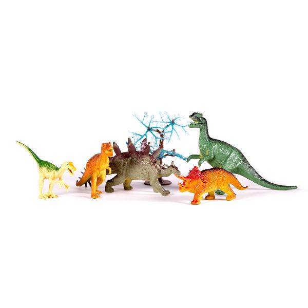 Megasaurs SV10690 Мегазавры Игровой набор динозавров (5 дино + дерево) (в ассортименте)