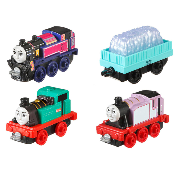 Mattel Thomas & Friends DWM32 Томас и друзья Набор из трех персонажей-паровозиков с вагончиком mattel thomas