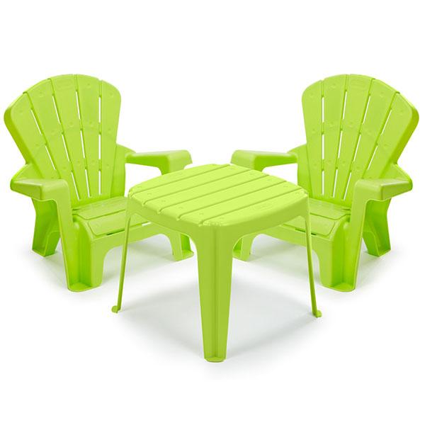 Little Tikes 644672 Литл Тайкс Набор садовый столик и стулья 2 шт., салатовый