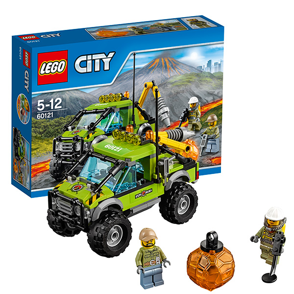Lego City 60121 Конструктор Лего Город Грузовик Исследователей Вулканов lego lego city 60093 вертолет исследователей моря