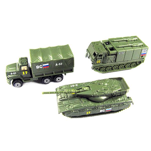 Wincars 86048-PT2049-4 Набор металлических машин военная техника 3 штуки танки и военная техника wincars набор машинок wincars автоперевозчик военная техника 1 70 в асс
