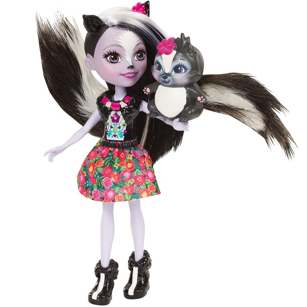 Mattel Enchantimals DYC75 Кукла Седж Скунси, 15 см
