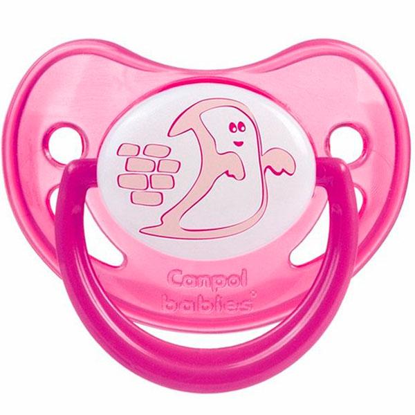 Canpol babies 250930232 Пустышка анатомическая силиконовая, Night Dreams, красная, 0-6м