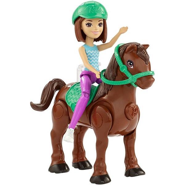 Mattel Barbie FHV62 Барби В движении Пони и кукла