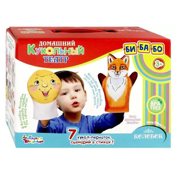 Фото - Десятое королевство TD03663 Домашний кукольный театр Колобок (7 кукол-перчаток) десятое королевство td03663 домашний кукольный театр колобок 7 кукол перчаток