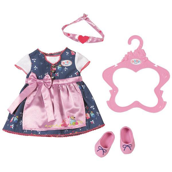 Zapf Creation Baby born 824-504 Бэби Борн Платье с передником куклы и одежда для кукол zapf creation baby born детское питание 12 пакетиков