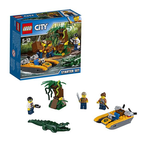 Lego City 60157 Конструктор Лего Город Набор Джунгли для начинающих конструктор lego city jungle explorer 60157 набор джунгли для начинающих