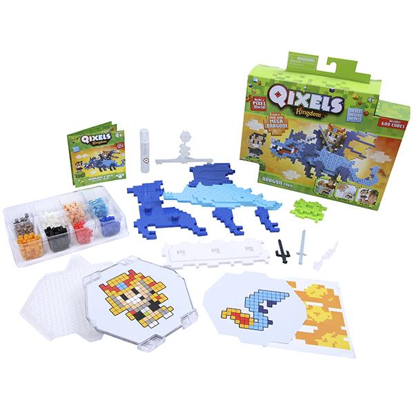 Qixels 87035 Квикселс Набор для творчества Королевство Гнев дракона