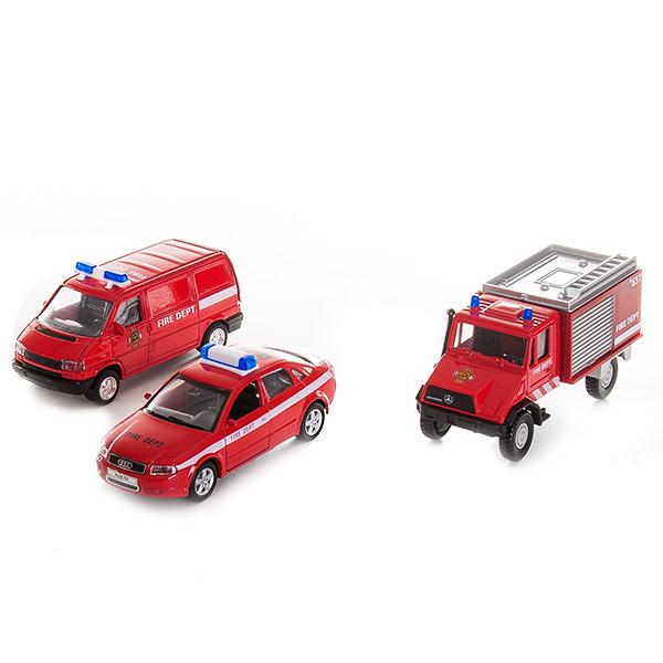 Welly 99610-3C Велли Игровой набор машин Пожарная служба 3 шт welly welly набор служба спасения пожарная команда 4 штуки