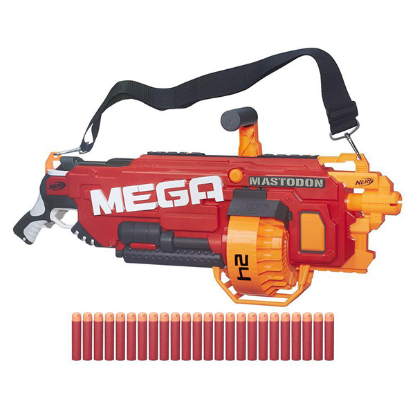 Hasbro Nerf B8086 МЕГА Мастодон (бластер) игрушечное оружие nerf hasbro бластер мега лук