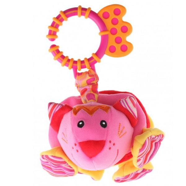 Фото - ROXY-KIDS RBT10075 Игрушка развивающая Кот Ру-ру с забавным смехом roxy kids rbt20014 игрушка развивающая слоненок сквикер пищалка внутри размер 18 см