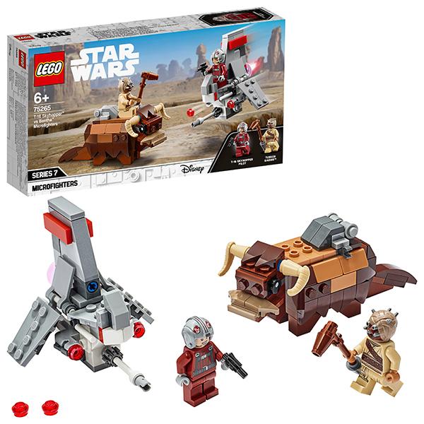 LEGO Star Wars 75265 Конструктор ЛЕГО Звездные войны Микрофайтеры: Скайхоппер T-16 против Банты детское лего sluban airbus lego b0366