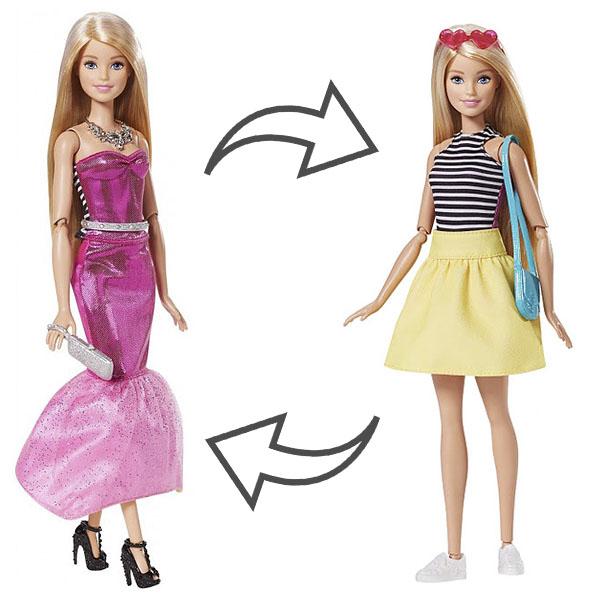 Mattel Barbie DMB30 Барби Кукла в платье-трансформере barbie серебристо розовое платье с аксессуарами барби