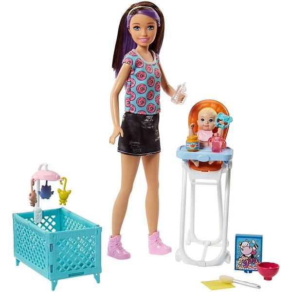 Mattel Barbie FHY98 Барби Набор Няня сменный кен для барби