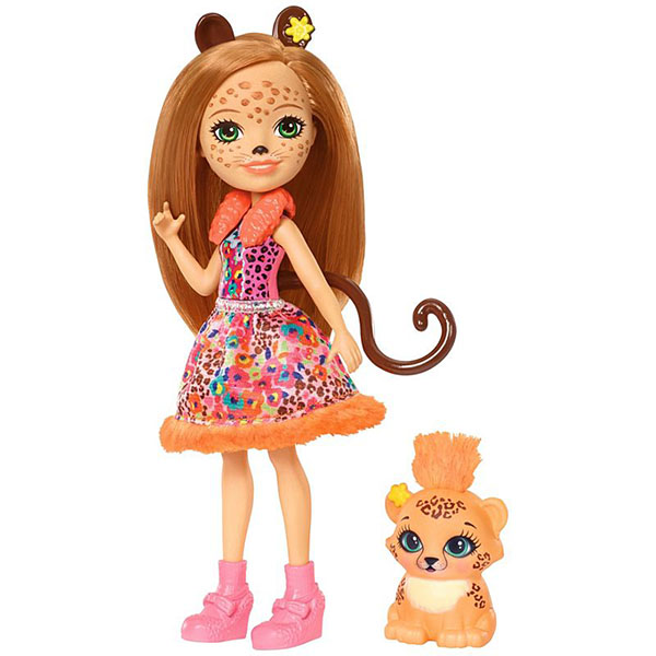 Mattel Enchantimals FJJ20 Кукла с любимой зверюшкой - Чериш Гепарди