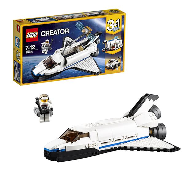 Lego Creator 31066 Конструктор Лего Криэйтор Исследовательский космический шаттл lego lego creator 31044 лего криэйтор животные в парке